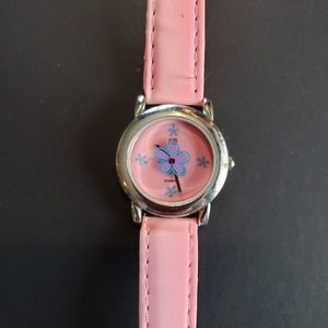 3 / $20 Pink & Purple Flower Faux Leather Strap